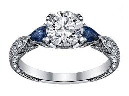 engagement rings with blue stones engagement ring blue sapphire pear side stones