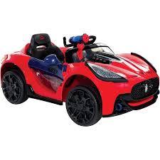 spider man super car 6 volt battery powered ride on walmart com