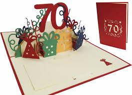 70th Birthday Cards Pop Up Birthday Card 70th Birthday Lin Pop Up 3d Greeting Cards