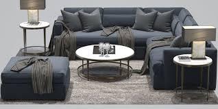 baker darcy corner sofa oberon barbara barry 3d model