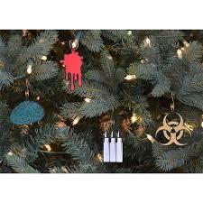 subtle undead ornaments zombie themed christmas
