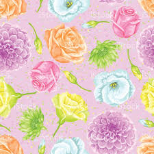 decorative wrapping paper seamless pattern with decorative delicate flowers easy to use for