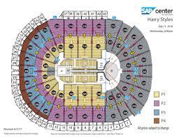ticketmaster floor plan harry styles live on tour sap center