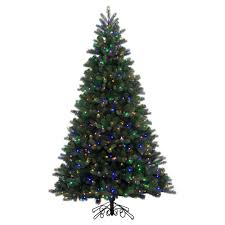 artificial christmas trees multi colored lights 7 5 pre lit led artificial christmas tree noble spruce instant