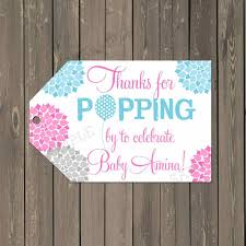 thank you tag wording to pop baby shower tags favor thank you gift
