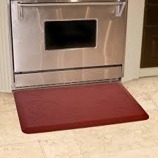 Kitchen Floor Mat Amazon Com Wellnessmats Bella Motif Anti Fatigue Mat Burgundy