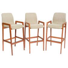 danish bar stools danish teak sculpted seat barstools at 1stdibs