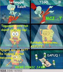 Meme Comic Indonesia Spongebob - spongebob versi jawa source mem e comic jawa 1cak for fun only