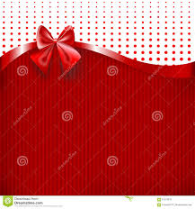 Invitation Cards Design With Ribbons Red Ribbon And Bow On Red Paper Texture Background Stock Vector