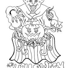 coloring pages halloween scary archives mente beta