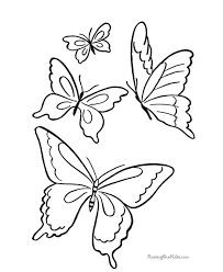 butterfly coloring book kids coloring