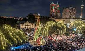 Heb Christmas Tree Lighting Travis Park San Antonio 24 November