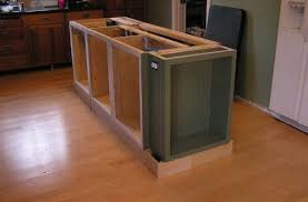 how to install kitchen island awesome installing kitchen island cabinets how to install a