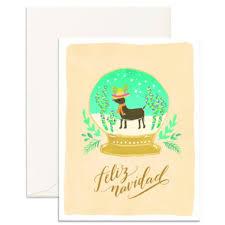 feliz navidad christmas card feliz navidad card by fox fallow outer layer