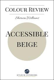 beige colour colour review sherwin williams accessible beige