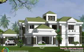 colonial model green roof home kerala home design and floor plans