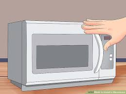 Microwave Under Cabinet Bracket How To Install A Microwave 12 Steps With Pictures Wikihow