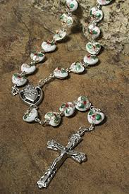 sacred heart rosary white heart cloisonne sacred heart rosary roscl00050 rosarycard net