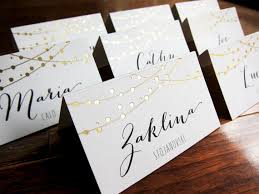 lights wedding place cards name place setting dinner cards