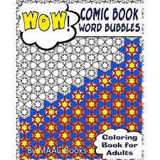comic book word bubbles coloring book adults walmart