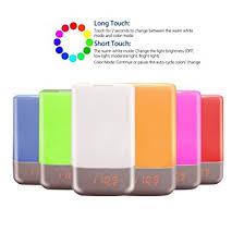 tecboss bedside l wake up light lightess wake up light rechargeable touch sensor bedside l alarm