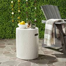 ivory accent table safavieh jaslyn concrete indoor outdoor accent table ivory free