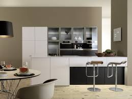 black cabinet furniture and white walls kitchen galley designs