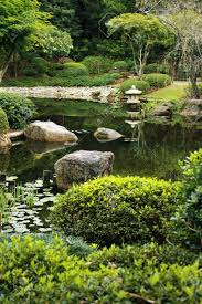 Japanese Style Garden by Neat Japanese Style Garden With Calm Pond And Typical Lantern