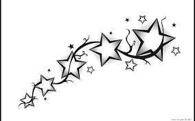 star tattoo designs tribal shooting star drawing viewing gallery