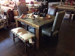reclaimed wood rustic dining room table furniture pretty kitchen idea at bradleys furniture etc utah rustic dining
