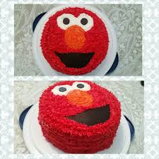 easy diy elmo cake double layer round cakes use black fondent