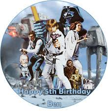 wars edible image birthday wars party cakes ebay