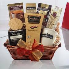 coffee gift basket coffee gift baskets peet s coffee gift basket