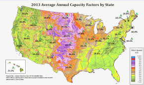 Capacity Windaction U S Annual Capacity Factors By Project And State