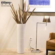 White Ceramic Floor Vase Bucherer Ceramic Floor Vase Modern Minimalist Living Room With A