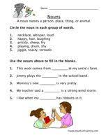 noun worksheet nouns worksheet worksheets and have fun