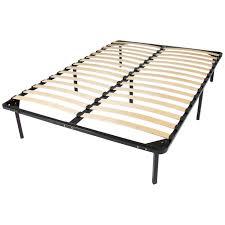 wooden slat metal bed frame wood platform bedroom mattress