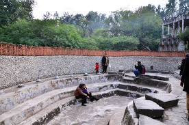 Nek Chand Rock Garden Chandigarh by Chandigarh India January 4 2015 People Visit Rock Statues
