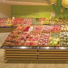 fruit table display ideas round tube fruit and vegetable display wanzl ideas of convertable