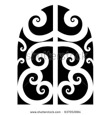tribal designs sketched simple isolated stock vector
