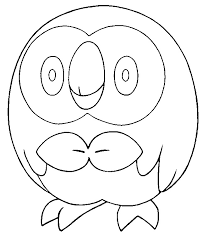 coloring pages pokemon rowlet drawings pokemon