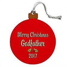 godmother or godfather tree ornament gift