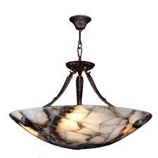 Bowl Pendant Light Fixtures Worldwide Lighting Pompeii 4 Light Flemish Brass Quartz