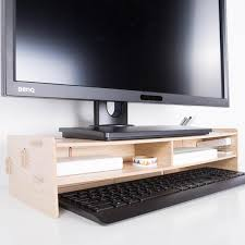 Computer Desk Accessories Diy Computer Keyboard Stationery Holder Wooden Creative Office