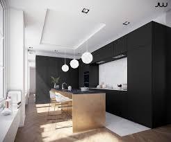 cuisine blanc noir cuisine noir et bois affordable attractive cuisine blanc laque
