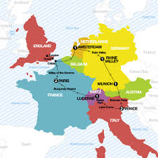 France Germany Map by Contiki Crashers Win A Contiki Tour Last Minute Europe Deals
