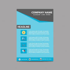 one page brochure template simple brochure templates blue simple brochure template vector