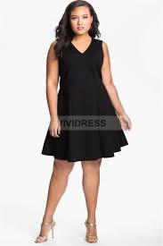 a line knee length satin sleeveless zipper v neck plus size