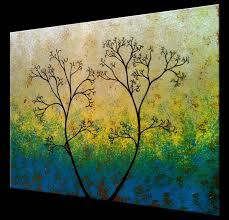 original abstract modern landscape made buy a custom original abstract tree painting green landscape