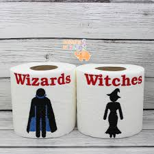 toilet paper halloween wizards witches embroidered toilet paper halloween decorations